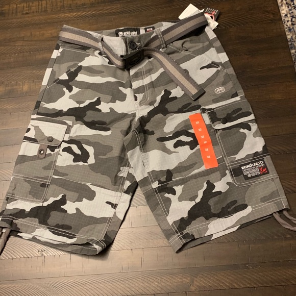 ecfe0752 Ecko Unlimited Shorts | Cotton Ripstop Cargo Short | Poshmark